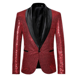"The ""Crystal"" Slim Fit Blazer Suit Jacket - Scarlet Red"
