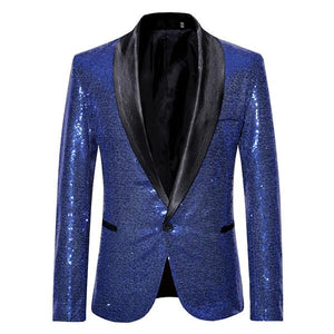 "The ""Crystal"" Slim Fit Blazer Suit Jacket - Sapphire Blue PARKLEES Official Store S"