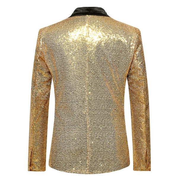 "The ""Crystal"" Slim Fit Blazer Suit Jacket - Gold UplzCoo Fashionable Store"