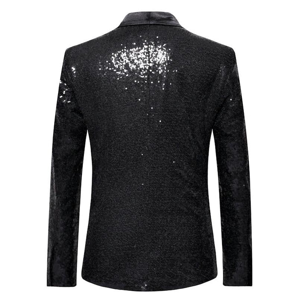 "The ""Crystal"" Slim Fit Blazer Suit Jacket - Jet Black William // David"