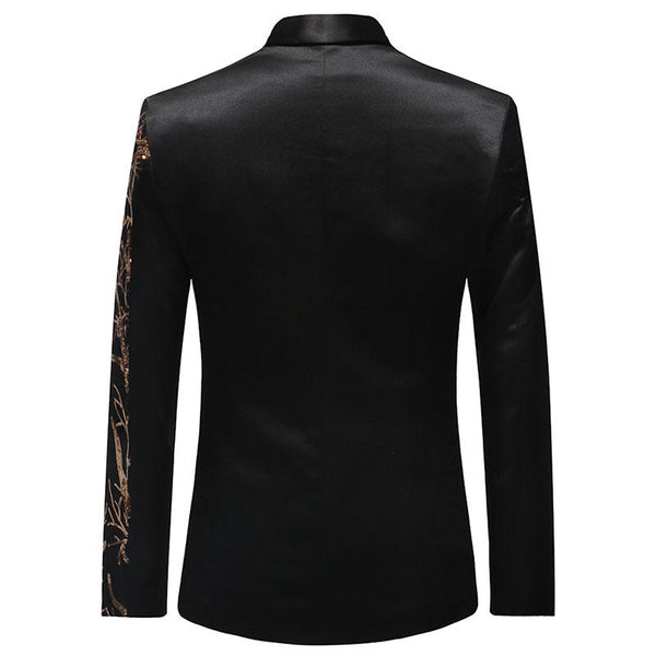 "The ""Meridian"" Slim Fit Blazer Suit Jacket - Black PYJTRL Official Store"