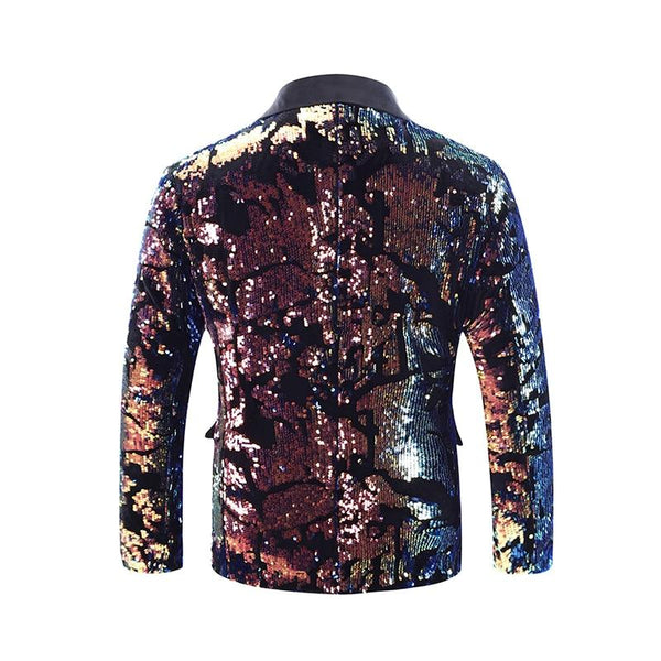 "The ""Thierry"" Sequin Slim Fit Blazer Suit Jacket YUNCLOS Official Store"