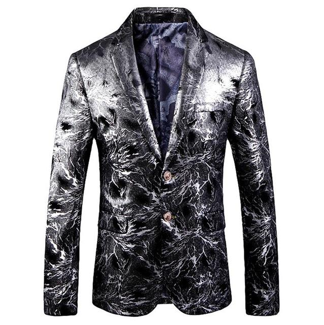 "The ""Davide"" Platinum Slim Fit Blazer Suit Jacket"