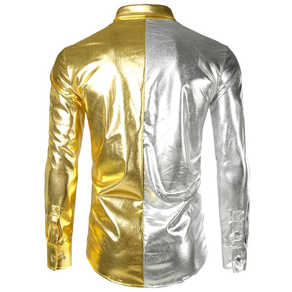 "The ""Giorgio"" High Gloss Splice Shirt - Multiple Colors fortune day"