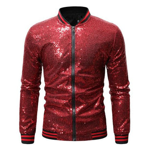 "The ""Crystal"" Slim Fit Bomber Jacket - Multiple Colors William // David Red S"