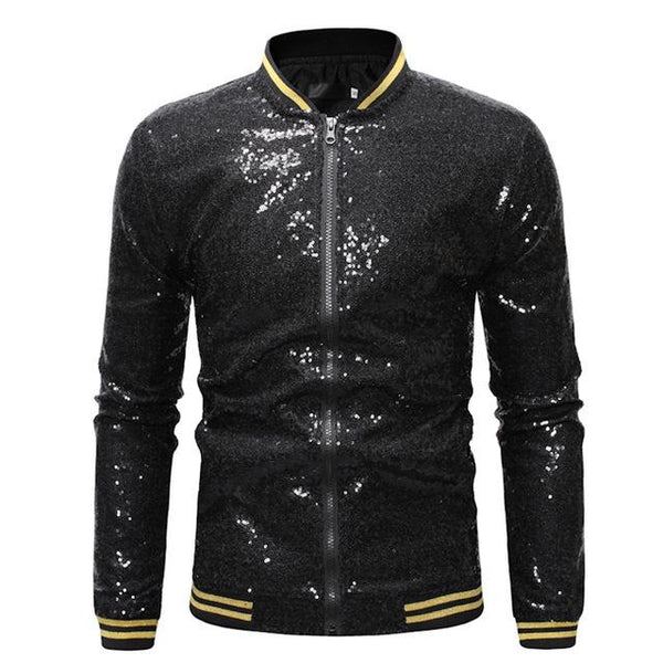 "The ""Crystal"" Slim Fit Bomber Jacket - Multiple Colors William // David Black S"