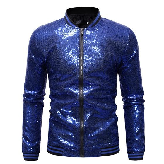 "The ""Crystal"" Slim Fit Bomber Jacket - Multiple Colors William // David Blue S"