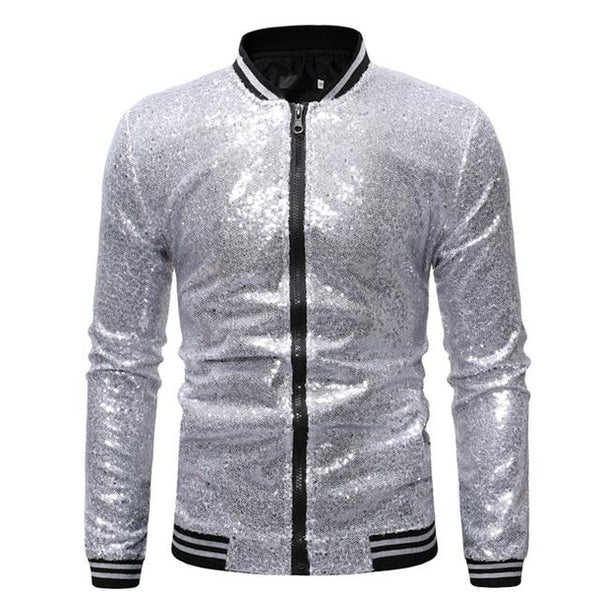 "The ""Crystal"" Slim Fit Bomber Jacket - Multiple Colors William // David Silver S"