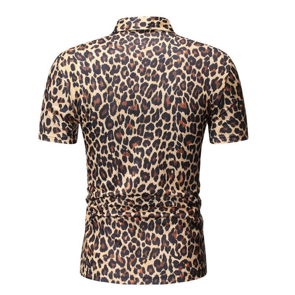 "The ""Leopard"" Short Sleeve Polo Shirt - Multiple Colors William // David"