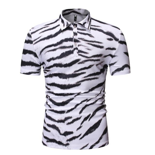 "The ""Bengal"" Short Sleeve Polo Shirt - Multiple Colors William // David White M"