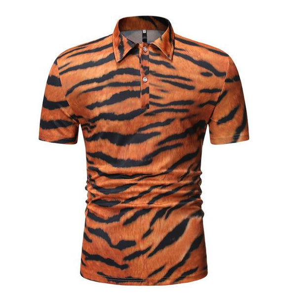 "The ""Bengal"" Short Sleeve Polo Shirt - Multiple Colors William // David Orange M"