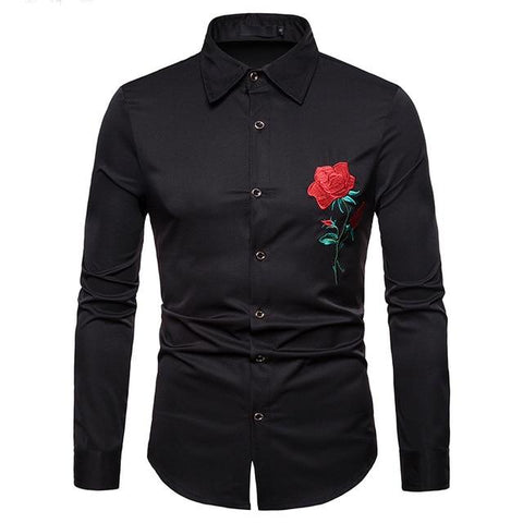 "The ""Blossom"" Embroidered Long Sleeve Shirt - Multiple Colors"