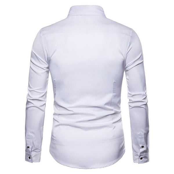 "The ""Blossom"" Embroidered Long Sleeve Shirt - Multiple Colors Hipster 3D Wardrobe Store"