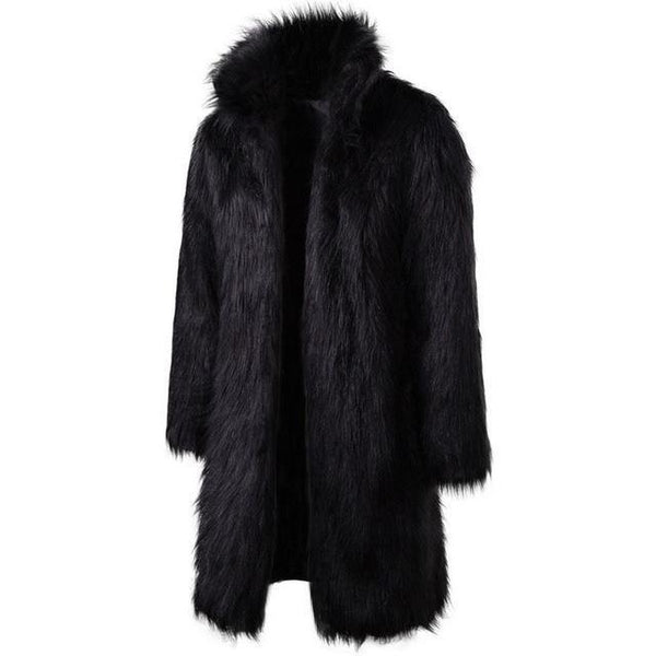"The ""Napoleon"" Faux Fur Mink Jacket - Black Ming123 Store XL"
