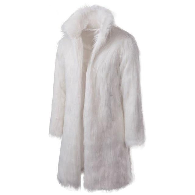 "The ""Napoleon"" Faux Fur Mink Jacket - White Ming123 Store XL"