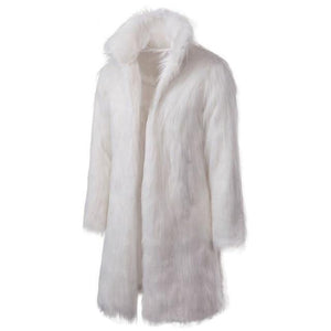 "The ""Napoleon"" Faux Fur Mink Jacket - White"