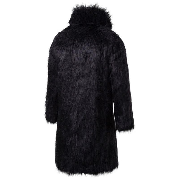 "The ""Napoleon"" Faux Fur Mink Jacket - Black Ming123 Store"
