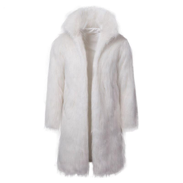 "The ""Napoleon"" Faux Fur Mink Jacket - White Ming123 Store"