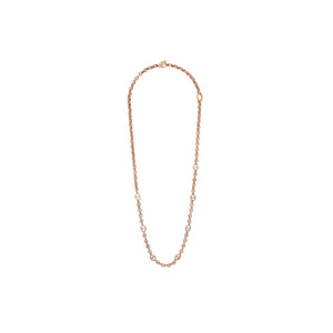 5MM OPEN-LINK™ NECKLACE WITH SEVEN 10MM LINKS WITH DIAMONDS