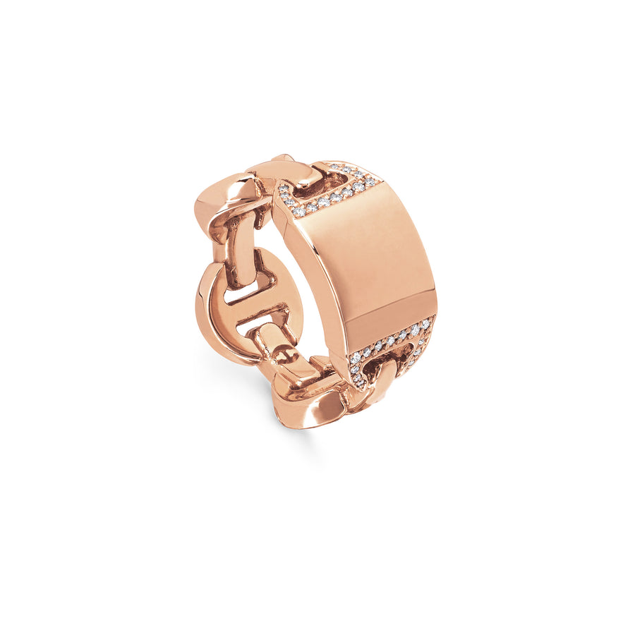 BRUTE CLASSIC TRI-LINK MONOGRAM WITH DIAMONDS | 18K GOLD