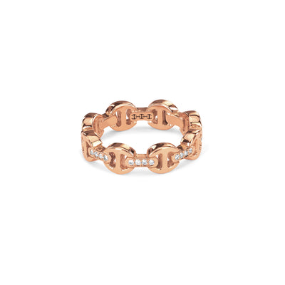 DAME TRI-LINK WITH DIAMOND BRIDGES | 18K GOLD