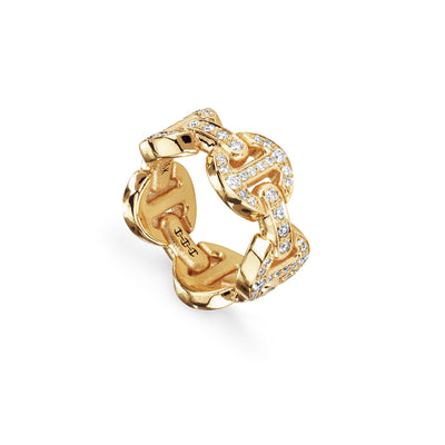 DAME CLASSIC TRI-LINK ANTIQUATED | 18K GOLD
