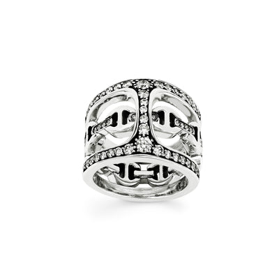 PHANTOM CLIQUE WITH DIAMONDS | STERLING SILVER