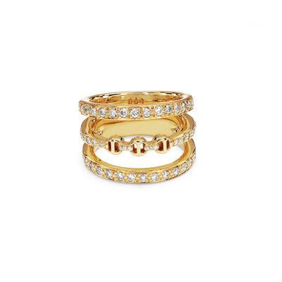 ASSET WITH DIAMONDS | 18K GOLD