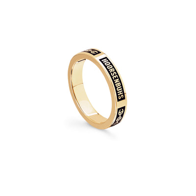 ICON WITH BLACK ENAMEL | 18K GOLD