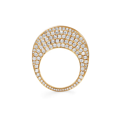 CHIP WITH DIAMONDS | 18K GOLD