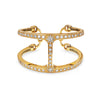 PHANTOM CUFF WITH DIAMONDS | 18K GOLD
