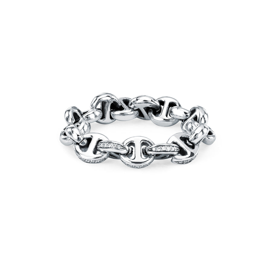 5MM OPEN-LINK™ RING WITH DIAMONDS | STERLING SILVER