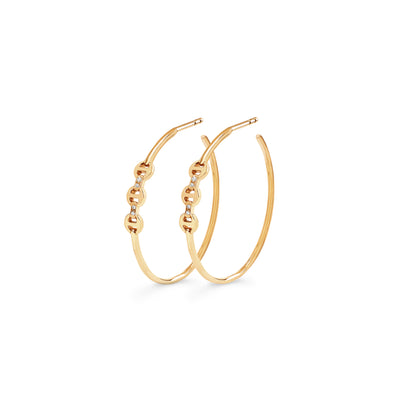 MINI HOOP WITH DIAMOND BRIDGES | 18K GOLD