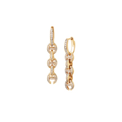 FIVE LINK PAVE DRIP | 18K GOLD