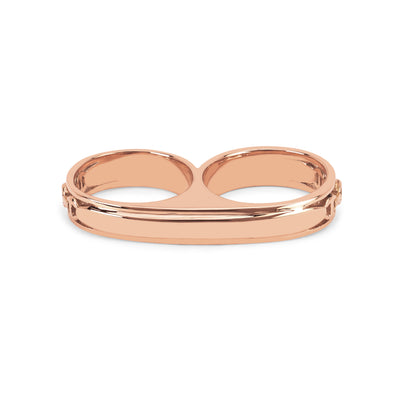 DOUBLE BARREL KNUCKLE | 18K GOLD