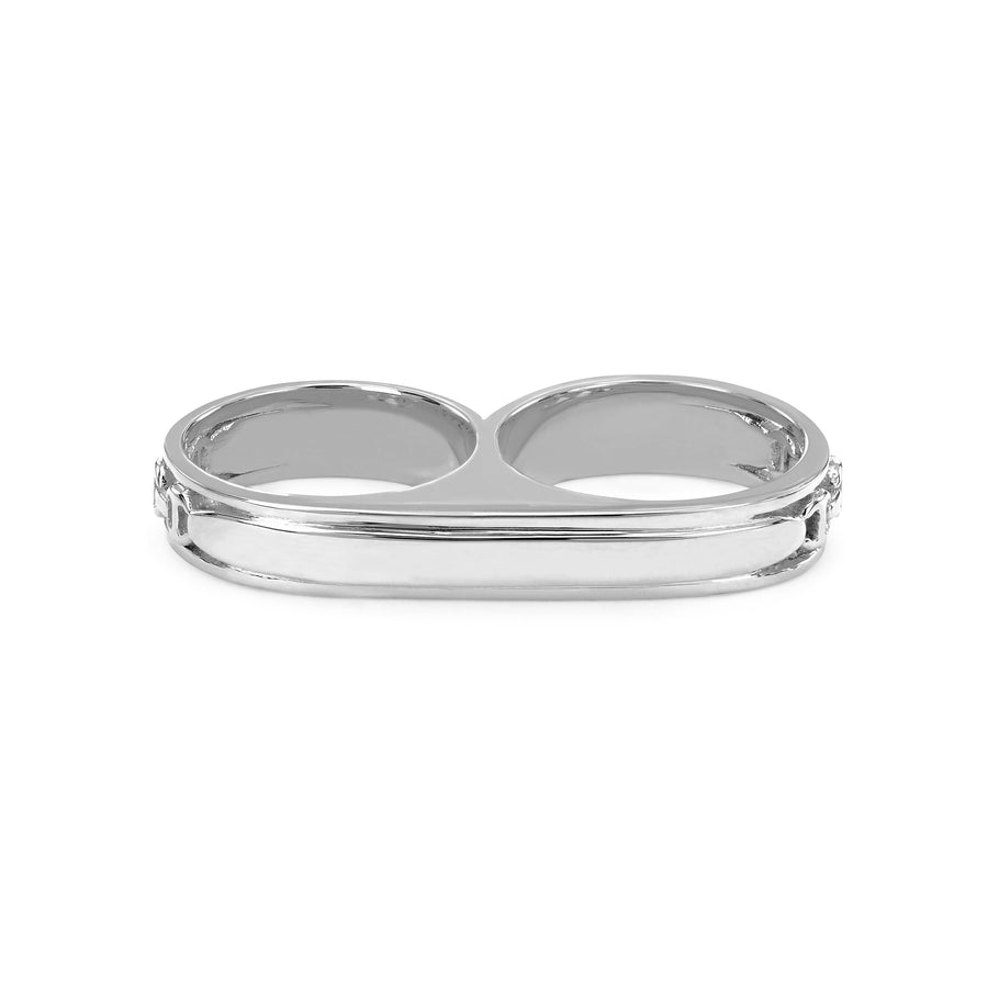 DOUBLE BARREL KNUCKLE | STERLING SILVER