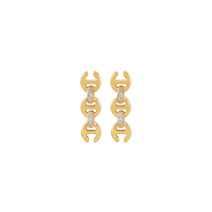 3MM TOGGLE STUDS WITH DIAMONDS | 18K GOLD
