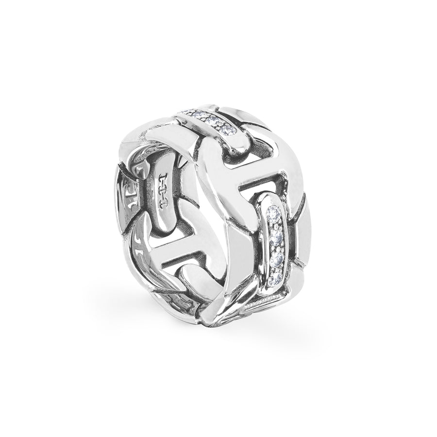 WALL QUAD WITH DIAMONDS | STERLING SILVER