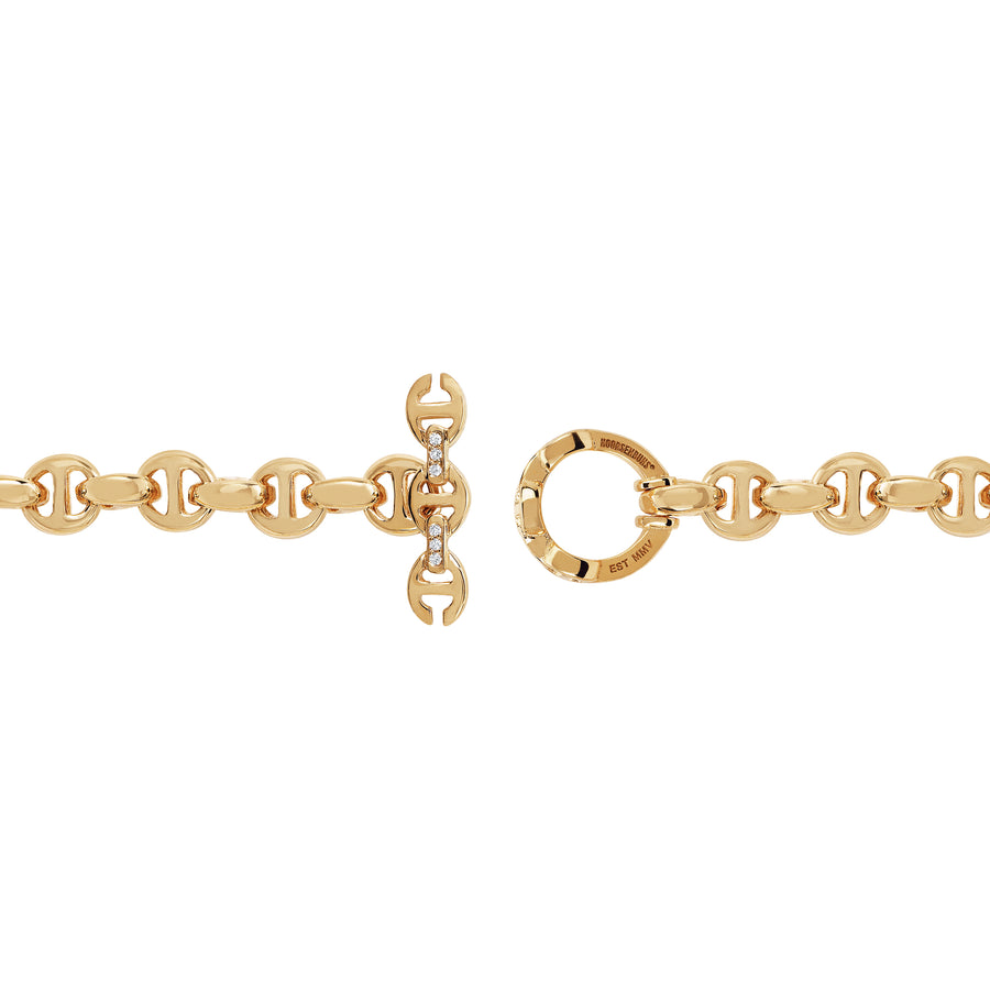 5MM OPEN-LINK™ MONOGRAM BRACELET | 18K GOLD