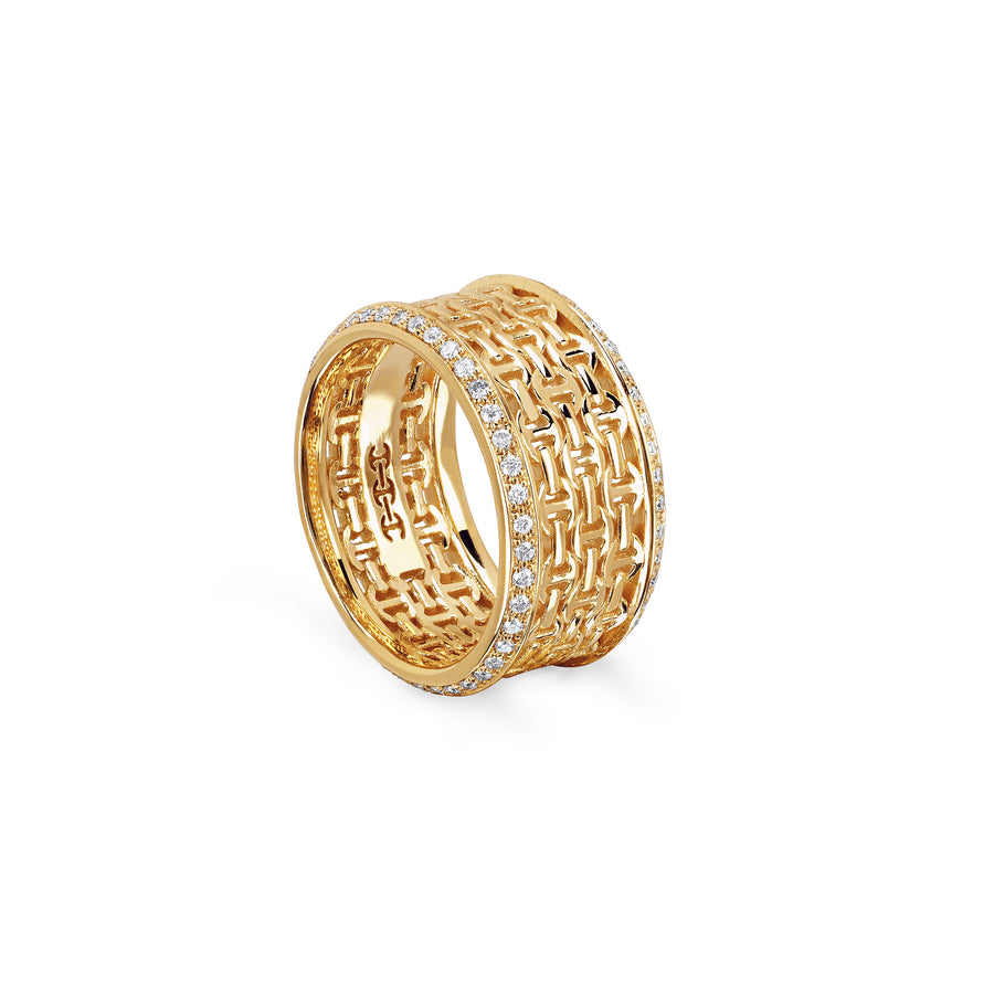 STAPEL I WITH DIAMONDS | 18K GOLD