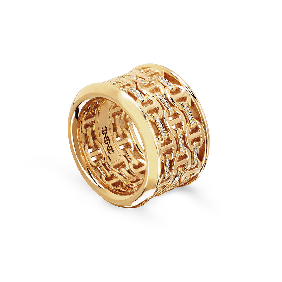 STAPEL III WITH DIAMONDS BRIDGES | 18K GOLD