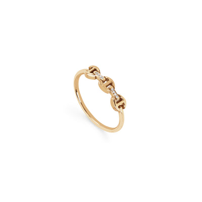 MICRO MAKERS DAME WITH DIAMOND BRIDGES | 18K GOLD