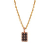 RECTANGLE LACE PENDANT | 18K GOLD