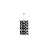 RECTANGLE LACE PENDANT | STERLING SILVER
