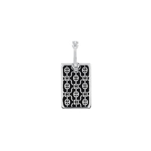 RECTANGLE LACE PENDANT