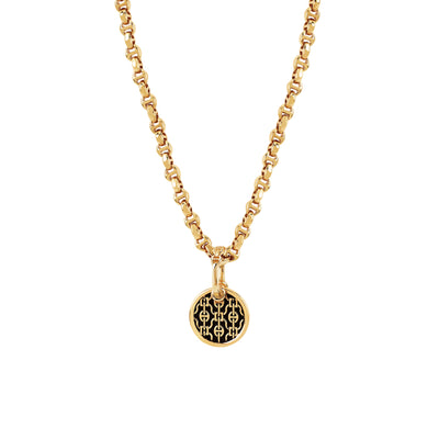 ROUND LACE PENDANT | 18K GOLD