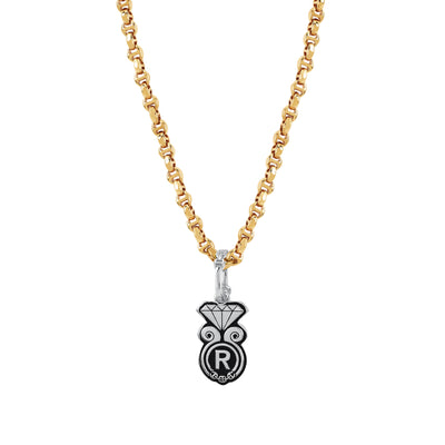GOLDEN DIAMOND PENDANT II | STERLING SILVER