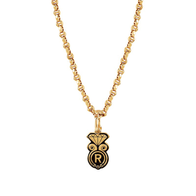 GOLDEN DIAMOND PENDANT II | 18K GOLD