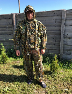 Ghillie Suit 3D Leafy Camouflage Clothing Jungle Woodland Hunting