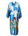 Flower Gold Gown Long Silk Rayon Lingerie Robe Nightwear Pajama